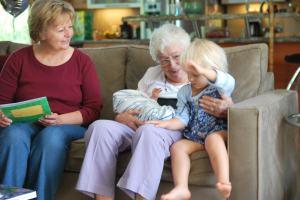 Nana, Asher, Selah, and Grandma
