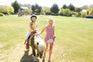 A barefoot pony ride!