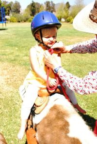 Strapping on the helmet