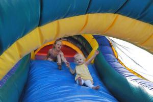 Down the slide...