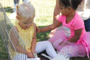 Selah & Eva - what a sweet moment with a friend