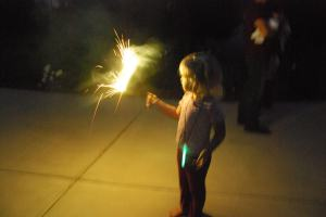 A sparkler makes the 4th complete!